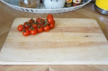 3. Wash and dry cherry tomatoes